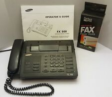 SAMSUNG FX500 INTEGRATED PERSONAL FACSIMILE TRANSCEIVER OFFICE PHONE FAX COPY