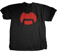 Frank Zappa Mustache M, L, XL, 2XL Black T-Shirt