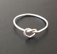 Genuine 925 Sterling Silver Infinity Knot Fine Ring Size 4 5 6 7 8 910 Stackable
