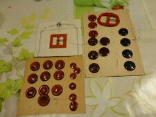 les boucles vintagerouges et les boutons rouges lot mercerie