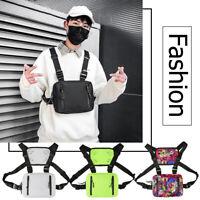 Oxford Crossbody Chest Bag Men Women Hip Hop Style Streetwear Vest Waist Packs