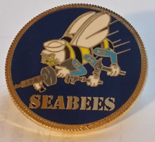 "US Navy ""SEABEES""  1.5 inch  X-Large pin"