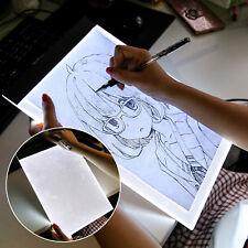 1xLED A4 Drawing Pad Tracing Light Box Board Artist Tattoo Table Stencil Display