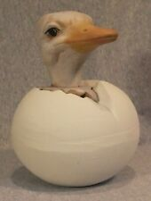 """Ceramic Ostrich Egg Bank ~ 6-3/4"""" Tall ~ Excellent Condition"""