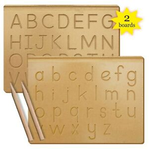 Alphabet Wooden Board A-Z Kids Writing practice Preschool Educational toys Skill