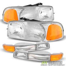 1999-2006 GMC Sierra Yukon & XL Headlights+Signal Corner Parking Bumper Lights