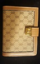 RARE Vintage GUCCI Address Book Desk Accessory GG Logo With Ink Pen MINT COND.