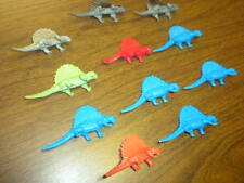 11 DIMETRODON DINOSAURS Marx/MPC/Nabisco? 3 inches LOT 1960's-1970's