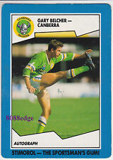 1989 SCANLENS/STIMOROL RUGBY LEAGUE: GARY BELCHER #34 RAIDERS/QLD ORIGIN/TEST