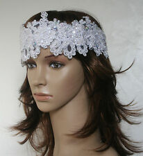 Vintage Style Handmade Gatsby Beaded Satin Headband