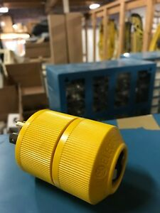 GENERAL ELECTRIC 30A 250V TWIST LOCK PLUG, YELLOW