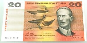 COMMONWEALTH AUST PHILLIPS / WHEELER $20 NOTE UNCIRCULATED