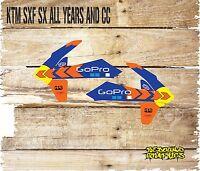 KTM SX SXF 50 65 85 125 250 450 Rad Scoops Graphics Stickers Decals MX Motocross
