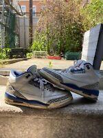 Vintage 2001 Nike Air Jordan 3 Retro III Size 10 True Blue