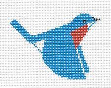 SP.ORDER ~ Charlie Harper *NEW* Bluebird handpainted Needlepoint Canvas Ornament