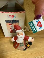 Vtg Eddie Walker Santa Ornament Brilliant Christmas 2000 Midwest Cannon Falls 5""