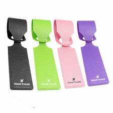 4pcs Luggage Tags Labels Strap Name Address ID Suitcase Bag Baggage Travel Set