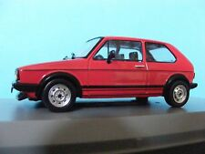 Volkswagen Golf GTI Mk 1 in red with Tartan seating a 1:43RD Scale Whitebox