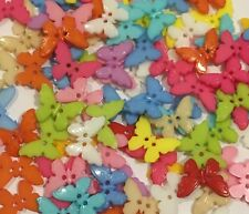Butterfly Buttons 10pc Assorted Colours 22mm Aussie Seller D119