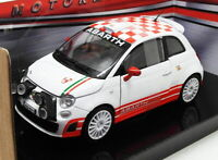 Motor Max 1/24 Scale Diecast 73379 - Abarth 500R3T - White/Red