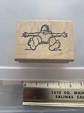 RRR Rubber Stamp FLAT BABY, RARE New Vintage Okd Stock