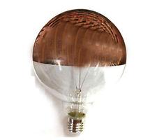 LAMPADINA LAMPADA GLOBO LED 125mm LUCE CALDA 3000K 8W E27 PARABOLA CUPOLA RAME