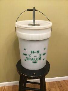 H-M E-Z Bucket Fish Scaler 5ga Panfish Perch Bluegill Drill Driven