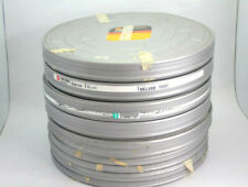 Lot Of 7 35Mm 2000Ft Motion Picture Silver Film Cans
