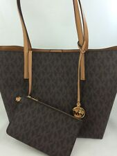 fa52fc4d2dcc New Authentic MICHAEL Michael Kors Hayley Large Tote Shoulder Bag Purse  Brown
