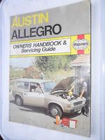 AUSTIN ALLEGRO HAYNES OWNERS HANDBOOK AND SERVICING GUIDE WORKSHOP MANUAL TC HL