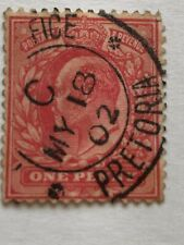 1902 KGV Red 1p Pretoria Cancellation Boer War Stamp