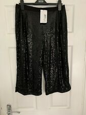 M&S Kids - Sparkly Sequin Black Culottes - 3/4 Length Trousers Partywear Childs