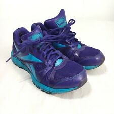 5c0ce213644 Reebok Womens 6.5 Purple Blue Lace Up Energy Foam Running Walking Training  Shoes