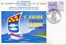 CARTE POSTALE 24° EXPOSITION PHILATELIQUE C.N.I.M. LOCALE LA SEYNE SUR MER 1985