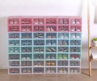 24/30X Small Shoes Box Stackable Shoes Storage Bin Shoes Storage Shoe Container.