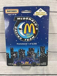 NASCAR 1997 Bill Elliott McDonalds #94 Mac Tonight race team Matchbox McDonald's