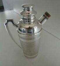 More details for art deco silver plated cocktail shaker, life saver, circa 1930's