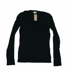 James Perse Women's Long Sleeve Top S Black, 100% - cotton