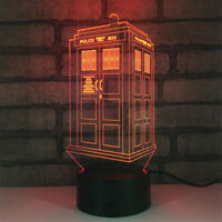 Doctor Who 3D Night Light 7 Color Change LED Desk Lamp Touch Room Decor