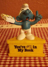"Vintage Schleich Peyo Smurf A Gram You're #1 In My Book 3"" Hong Kong Figure"