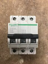 Merlin Gerin Schneider multi 9 B 1 amp Triple Pole  Circuit Breaker - TESTED
