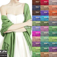 All Season 2PLY 78X28 Soft Silk Pashmina Shawl Wrap Cashmere Wool Stole Scarf