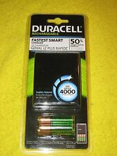 Duracell ION Speed 4000 Rechargeable Battery Charger AA AAA Batteries, New!