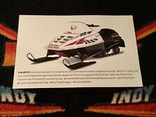 New listing 🏁 '97 POLARIS INDY XC 600 Snowmobile Poster   vintage sled XC600 Triple