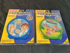 Fisher-Price Digital Arts and Crafts Studio-Go Diego Go Dinosaurs Software NEW
