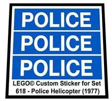 LEGO Bau- & Konstruktionsspielzeug Baukästen & Konstruktion 1 x Lego Flugzeug Rumpf rot 6x10 gewölbt Heck Sticker Set Helicopter 7206 87615