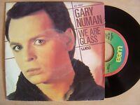 """GARY NUMAN we are glass / trois SPAIN VINYL 7"""" PROMO 45 WEA 1980ºdifferent p/sº"""
