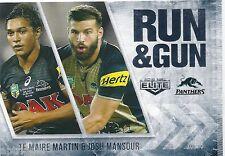 2016 NRL Elite Run & Gun (RG 21 / 32) Te Maire MARTIN / Josh MANSOUR Panthers