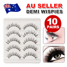 10pair Demi Wispies Natural Long Thick Soft Fake False Eyelashes Handmade Makeup