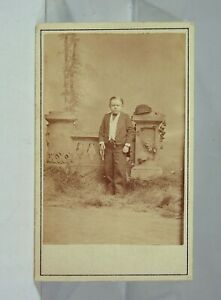ca1882 P T BARNUM SIDESHOW / CIRCUS MIDGET PERFORMER CDV PHOTO - MAJOR MITE
